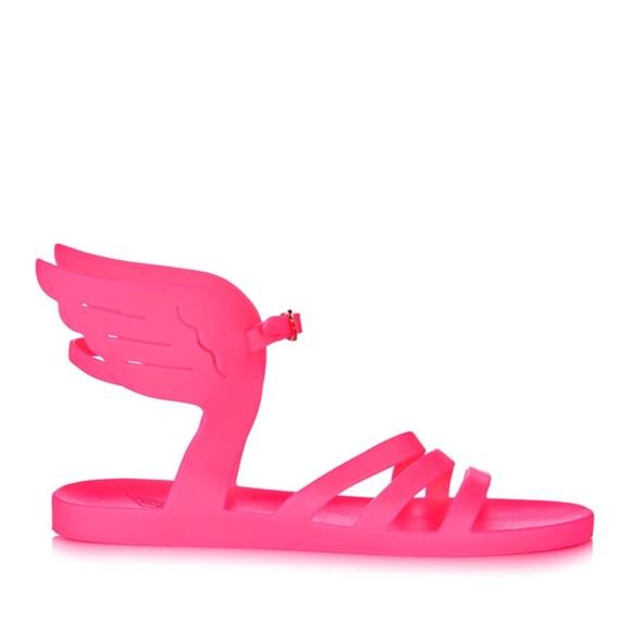 ancient greek sandals pink